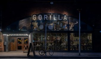 Photograph of Gorilla, a bar/restaurant/live music venue on Whitworth Street West in Manchester city centre.
