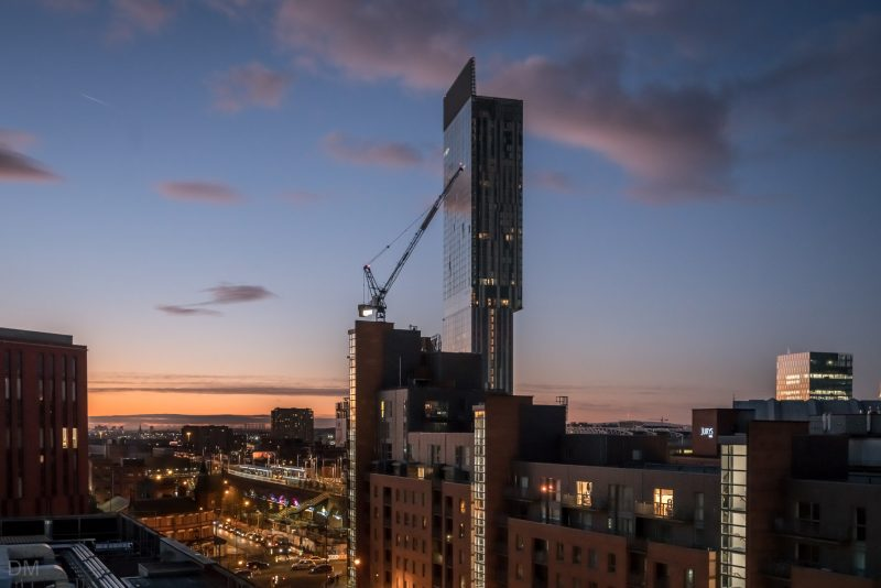 Photo of Deansgate Locks, Hacienda Apartments, and the Beetham Tower.