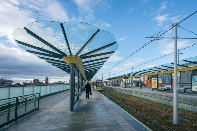Photograph of Deansgate-Castlefield Tram Stop (Metrolink).