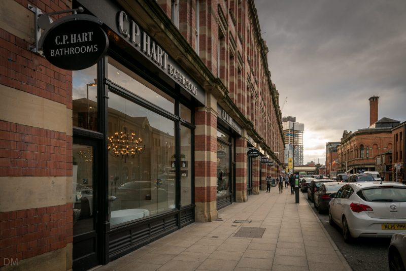 Photo of CP Hart bathroom showroom at the Great Northern on Deansgate in Manchester city centre.