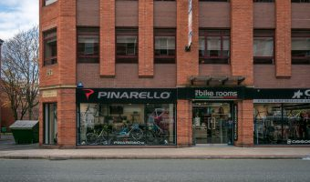 Photograph of The Bike Rooms bicycle store on Deansgate in Manchester city centre.