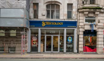 Photograph of The Church of Scientology on Deansgate in Manchester city centre.