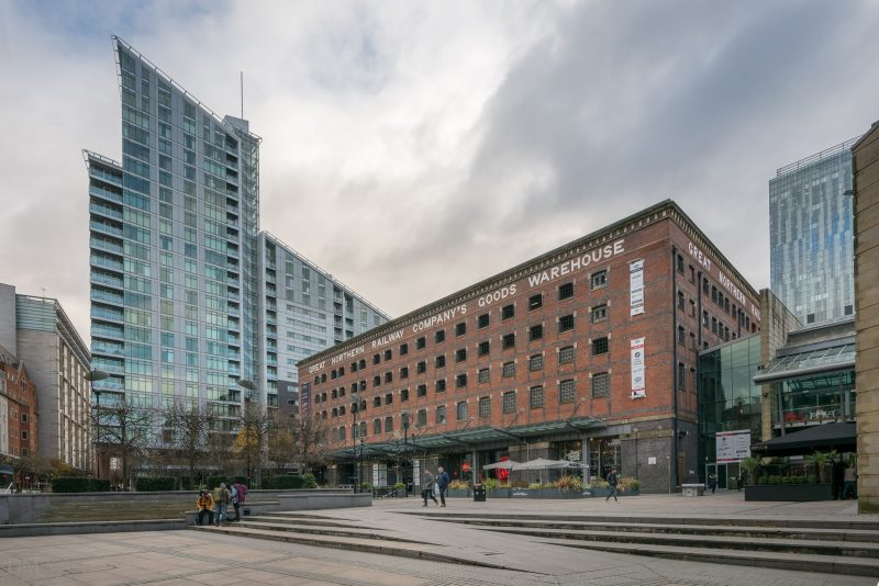 Photo of the Great Northern in Manchester. The sloping building on the left of the photo is the Great Northern Tower, an apartment building designed by Assael Architecture.