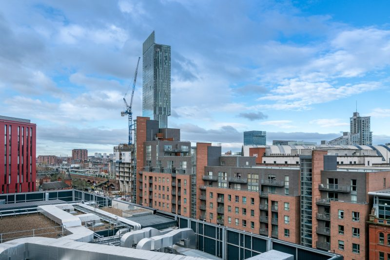 Photo of the Hacienda Apartments and Beetham Tower.