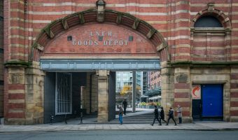Photograph of the Deansgate entrance to the Great Northern, Manchester.