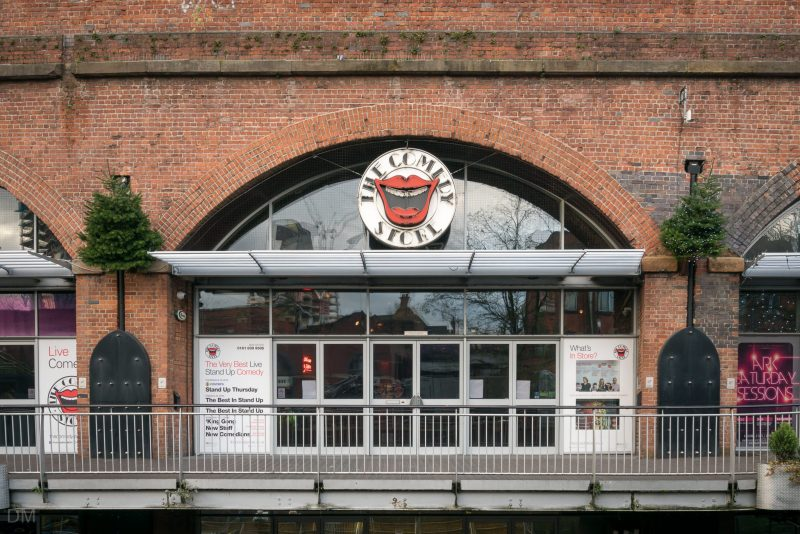 Photograph of the Comedy Store at Deansgate Locks in Manchester.