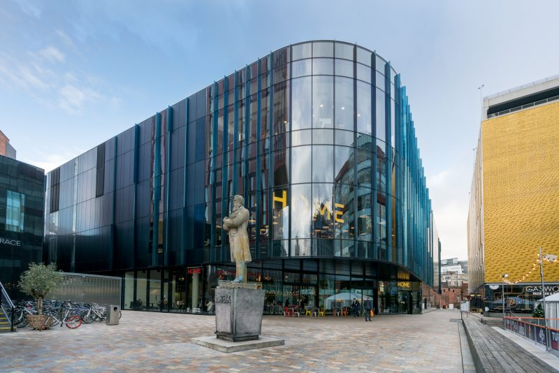 Photo of Hone at Tony Wilson Place, First Street, Manchester.