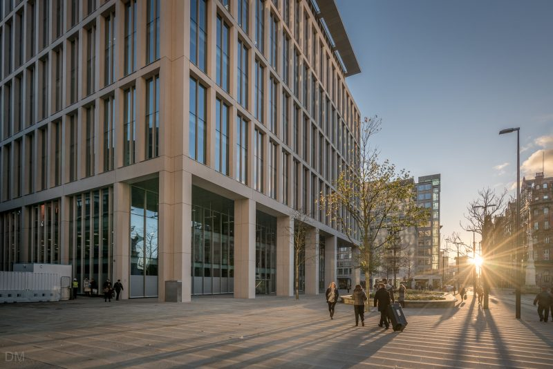 Photograph of One St Peter's Square, an office building in Manchester city centre.