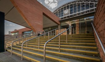 Steps leading to Manchester Central.
