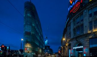 Photo of Manchester's National Football Museum and the Printworks.