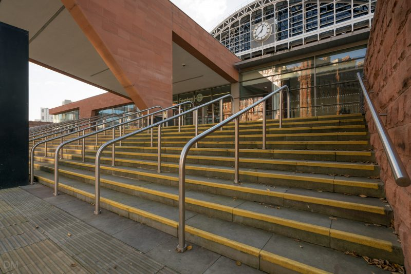 Photograph of entrance to Manchester Central Convention Centre.