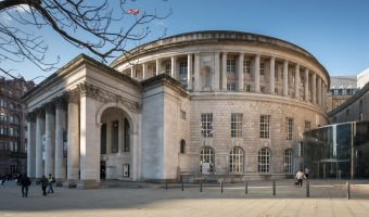 Photograph of Manchester Central Library on St Peter's Square in Manchester city centre.