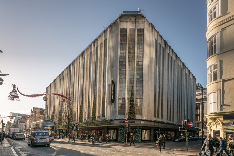 Photo of Deansgate and the House of Fraser store in Manchester.