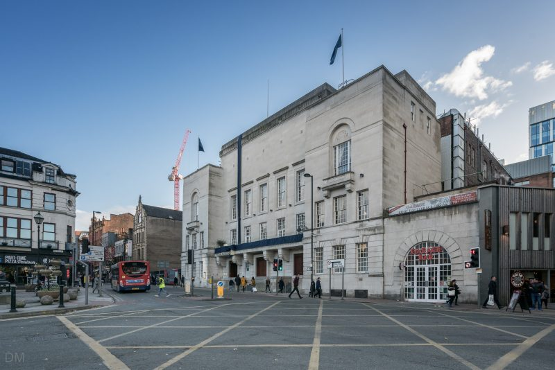 Photograph of Manchester Hall (event venue/restaurant) on Bridge Street in Manchester city centre.
