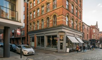 Photograph of TNQ Restaurant and Bar. Situated on High Street in Manchester's Northern Quarter.