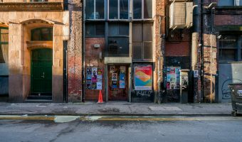 Photograph of building on Spear Street in the Northern Quarter, Manchester.