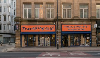 Photo of the Travelling Man store on Dale Street in the Northern Quarter, Manchester.