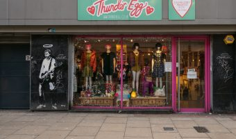 Photograph of the Thunder Egg store on Oldham Street in the Northern Quarter, Manchester.