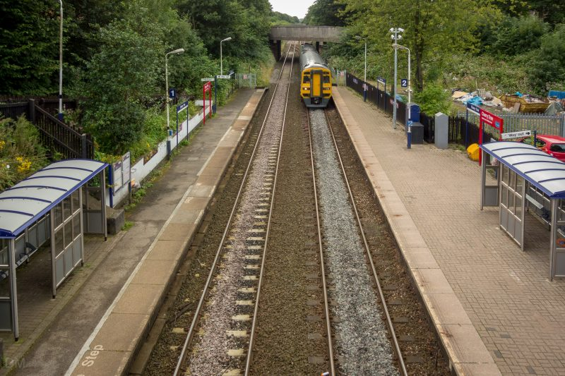 View of Cherry Tree Train Station in Blackburn, Lancashire.