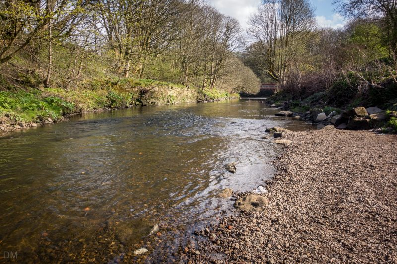 Photo of the River Croal at Moses Gate Country Park in Bolton, Greater Manchester.