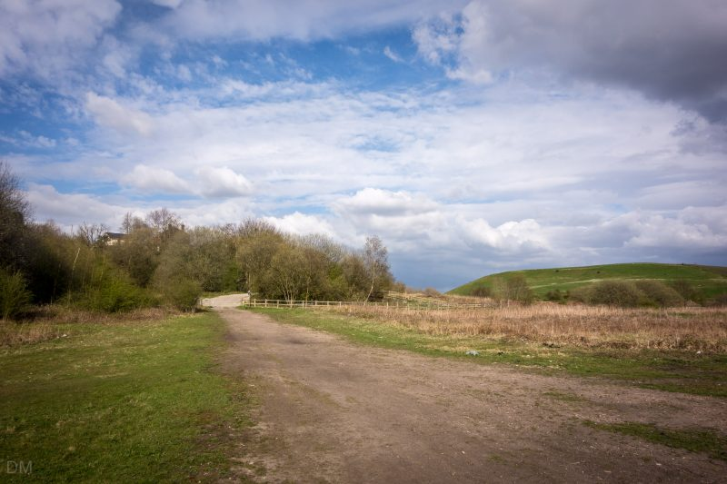 Photo of Nob End in Little Lever, Bolton. The former waste tip is now a nature reserve and Site of Special Scientific Interest (SSSI).