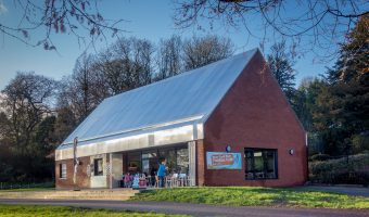 Photo of the Pavilion Cafe at Moss Bank Park, Bolton.