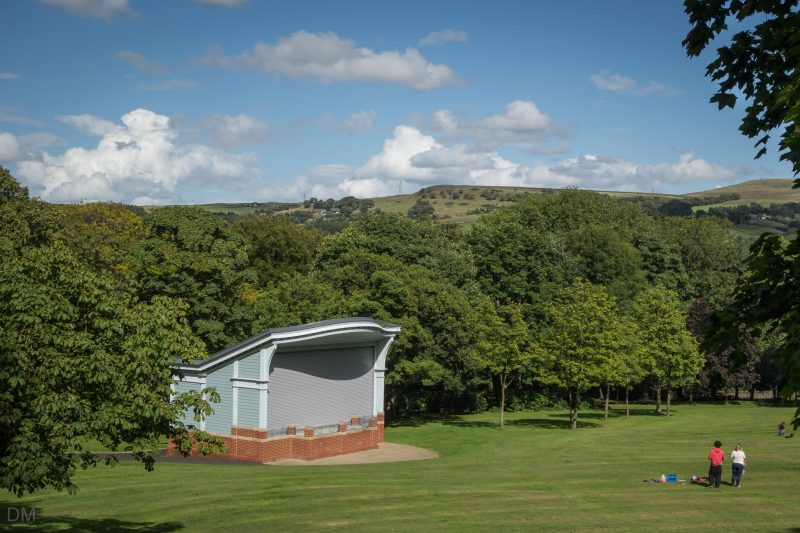 Photograph of the bandstand at Oak Hill Park in Accrington, Lancashire.