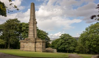 Photograph of Accrington War Memorial in Oak Hill Park.