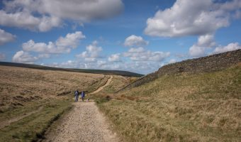Photo of a track on Holcombe Moor, near Ramsbottom. Taken on a walk to Peel Tower.