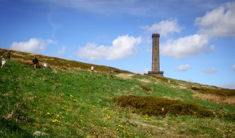 Photograph of the Peel Tower (aka Peel Monument/Holcombe Tower). Viewed from Holcombe Hill.