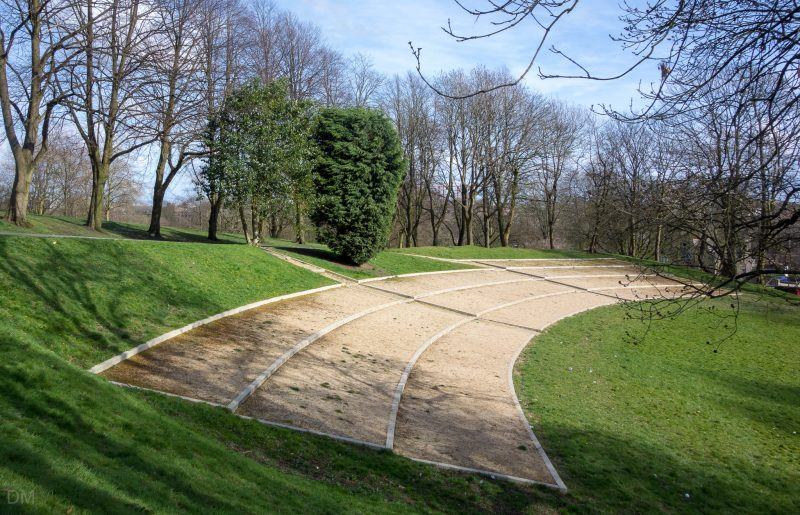 Photo of the amphitheatre at Queens Park, Bolton.