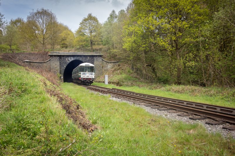 Photograph of East Lancashire Railway train (Days Out With Thomas train) at Brooksbottom Tunnel, near Ramsbottom.