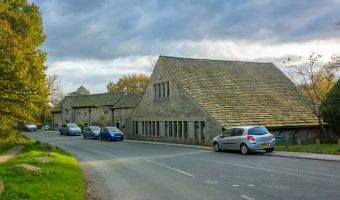 Photo of the Great House Barn (Lower Barn) in Rivington, Lancashire. The 16th century building is now a popular cafe.