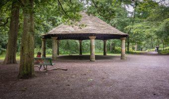 Bandstand in Sunnyhurst Wood, Darwen, Lancashire.
