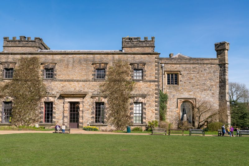 View of Towneley Hall at Towneley Park in Burnley, Lancashire.