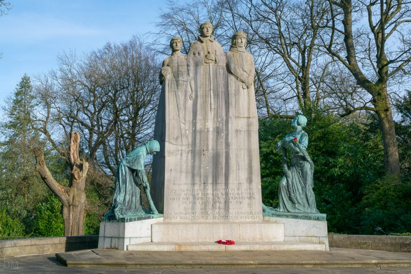 Photograph of the Towneley Cenotaph at Towneley Park in Burnley, Lancashire.