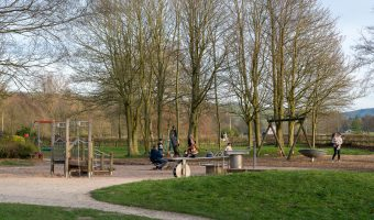 Photograph of the children's playground at Towneley Park, Burnley, Lancashire.