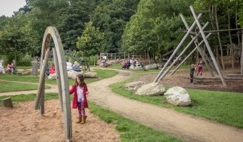 Photograph of The Wits adventure playground at Witton Country Park in Blackburn, Lancashire.