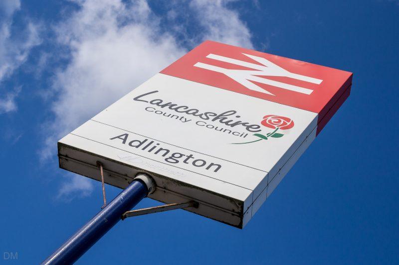 Photo of sign at Adlington Train Station, Adlington, Lancashire.