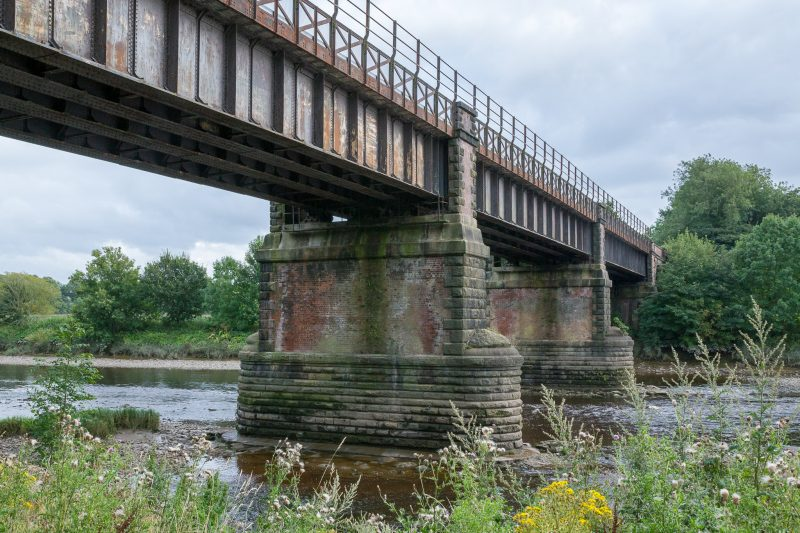 Photograph of East Lancashire Railway Viaduct and River Ribble at Miller Park, Preston, Lancashire.