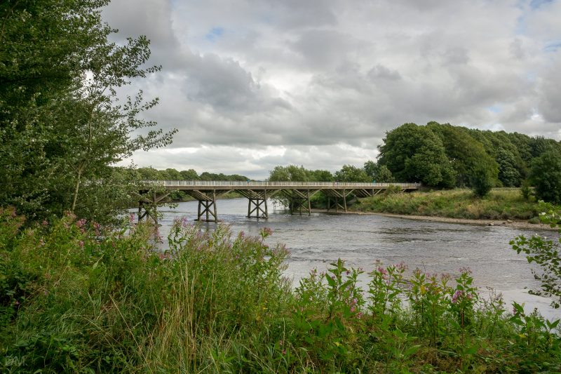 Photograph of the Old Tram Bridge at Avenham Park, Preston, Lancashire.