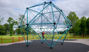 Photograph of climbing frame at Frenchwood Recreation Ground Playground, Avenham Park, Preston.
