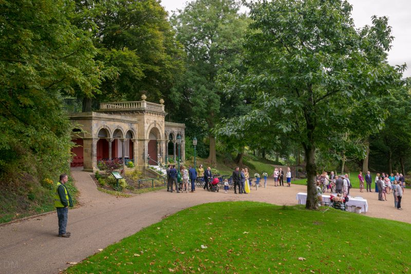 Photograph of a wedding at the Belvedere, Avenham Park, Preston.