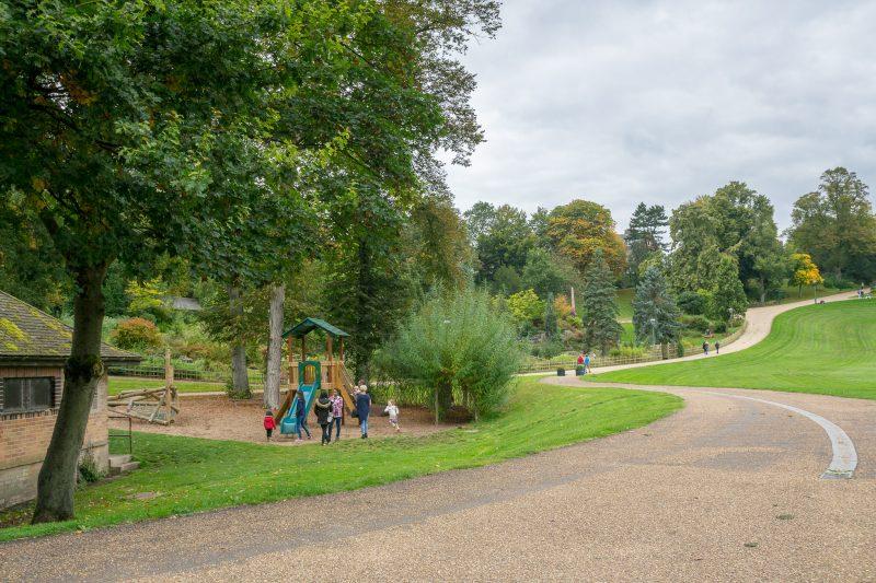 Photograph of the children's playground at Avenham Park. This playground is located near the Avenham Pavilion.