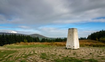 Photograph of triangulation pillar at the summit of Beacon Fell Country Park.