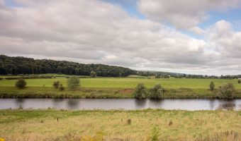 Photograph of the River Ribble. Taken from Brockholes, a nature reserve in Preston, Lancashire.