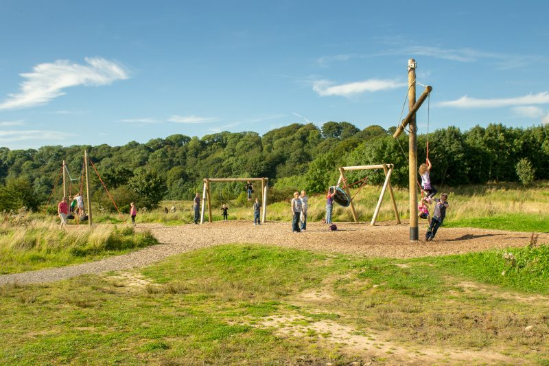 Photo of play area at Brockholes, a nature reserve in Preston, Lancashire.