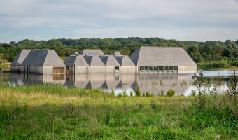 Photograph of floating Visitor Village at Brockholes nature reserve in Preston.