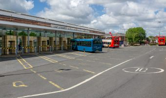 Photograph of Chorley Bus Station at Chorley Interchange, Chorley, Lancashire.