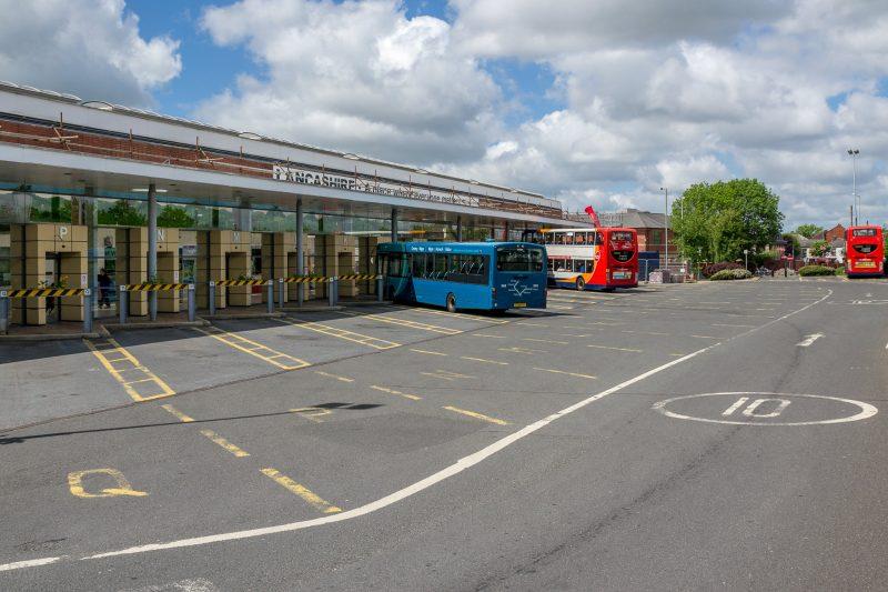 Photograph of Chorley Bus Station at Chorley Interchange, Chorley, Lancashire.